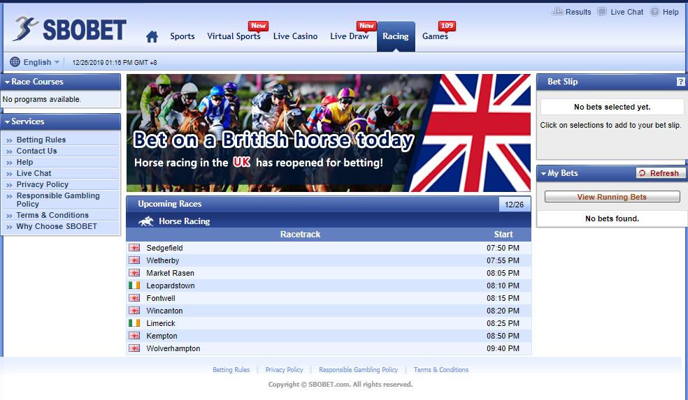 taruhan racing online di sbobet
